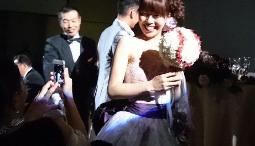 卒業生の結婚式でした